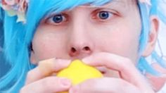 Look at how blue the wig makes his eyyyyyyyes Phil 3, Dan And Phil, Danisnotonfire, Amazingphil, Phan Tumblr, Big Blue Eyes, Joey Graceffa, Cat Whiskers, Tyler Oakley