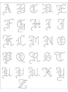 PACK Embroidery Patterns - OLDE ALPHABET Alphabet - Embroidery Patterns (could be used for other projects too!)Alphabet - Embroidery Patterns (could be used for other projects too! Alphabet A, Hand Lettering Alphabet, Calligraphy Letters, Tattoo Fonts Alphabet, Alphabet Design, Gothic Alphabet, Calligraphy Alphabet Tutorial, Basic Calligraphy, Doodle Lettering