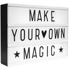 Supersöt lightbox för dina favoritord och citat!