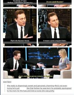 Tom Hiddleston's kindness :) The comments made me giggle.