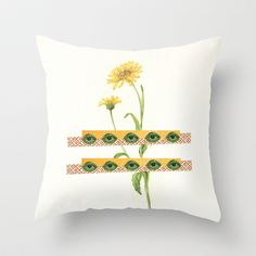 The Flower Throw Pillow by Dawn Gardner - $20.00
