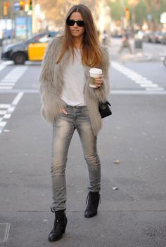 Faux fur jacket, i love it!