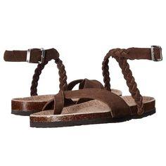 Wrap Around Ankle Brown Sandals