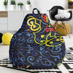 Glowing Rasta Mandala Bean Bag Chair – This is iT Original Bag Chairs, Bean Bag Chair, Mandala, Glow, Beans, Just For You, The Originals, Cover, Interior