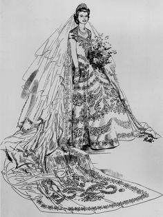 Queen Elizabeth's 1947 Wedding Dress