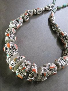 Antique Tibetan Tribal Jewelry - Articulated Silver Serpent Necklace - Museum Quality