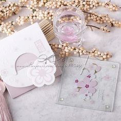 Free Shipping Sakura Glass Coaster (Set of 5 packs) $12.99
