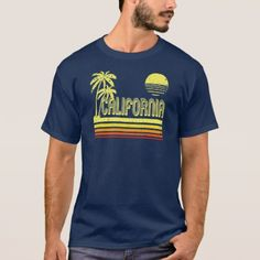 Vintage California (distressed look) T-Shirt - surfing surfer surfers ocean salty hair beach love sun sports