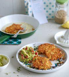 Gemüsepuffer mit Avocadodip - Rezepte - [LIVING AT HOME]