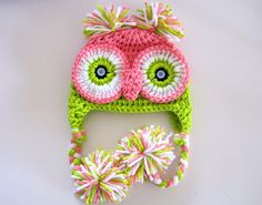 Whoo Whoo Pretty Owl Hat Newborn to 6 months