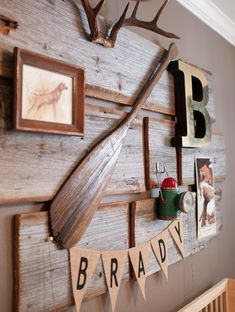 A #hunting or outdoor theme for a #BoysRoom! // FawnOverBaby.com