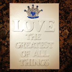 Zeta Tau Alpha inspired DIY craft. Canvas, wooden letters, white spray paint, and rhinestones.