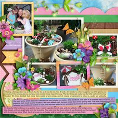 Our fairy garden -   Cindy's Layered Templates - Double It Up Set 17 by Cindy Schneider #believeinmagic: Pixie Dust by Amber Shaw & Studio Flergs