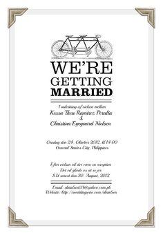 Free DIY Wedding Invitations