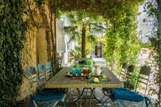 This bastide—a country house, neither château nor castle—is the perfect stage for a Parisian entrepreneur and father of three's enviable art and objets Provence, Succulent Garden Diy Indoor, Painted Bookshelves, Houses In France, Outdoor Spaces, Outdoor Decor, Outdoor Living, Outdoor Furniture, Terrazzo Flooring