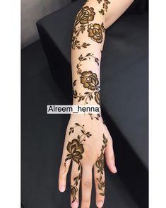 Modern Henna Designs, Latest Henna Designs, Floral Henna Designs, Arabic Henna Designs, Henna Designs Easy, Beautiful Henna Designs, Henna Tattoo Designs, Henna Tattoos, Khafif Mehndi Design