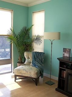 Best Paint Colors for Your Home: TURQUOISE    Aqueduct by Sherwin Williams