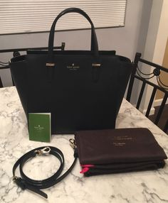 Kate Spade Nwt! Large Hayden Cedar Street Leather Tote Hobo Crossbody Handbag Black Satchel. GORGEOUS GIFT!!! SALE TODAY!!! SAVE $50 + FREE SHIPPING AND NO TAX!!!