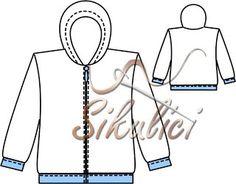 Střih na Sportovní bunda zakončená pružnými lemy pro děti, dětské střihy…