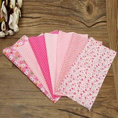 7pcs Pink Flower Dot PreCut Cotton Fabric Cloth Quilting Household Sewing Clothing Patchwork Needlework DIY Material 25*25cm-in Fabric from Home & Garden on Aliexpress.com | Alibaba Group
