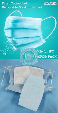 100 Pieces Disposable Mask Inner Pad Filter Cotton Pad - 100 Pieces Disposable Mask Inner Pad Filter Cotton Pad Source by anne_s_traumfab - Sewing Hacks, Sewing Projects, Mouth Mask Fashion, Cotton Pads, Mask Design, Diy Face Mask, Face Masks, Filters, Sewing Patterns