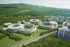 ESET to build new company headquarters on site of the former military hospital at Patronka in Bratislava Bratislava, State Art, Urban Design, New Art, Stepping Stones, Golf Courses, Arch, Military, Building