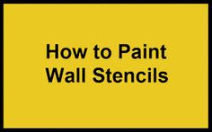 wall painting stencils flowers - Google Search