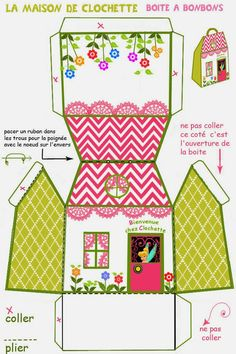 Tinkerbell Free Printable House Shaped Box.