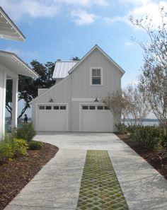 Our Town Plans. 2014 coastal living show house garage.