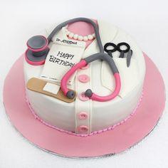 Doctor Birthday Cake, Makeup Birthday Cakes, Doctor Cake, Creative Birthday Cakes, Dad Birthday Cakes, 49ers Cake, Medical Cake, Birtday Cake, 40th Cake