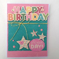It's Your Day   Jillibean Soup - Scrapbook.com - Die cuts make perfect sentiments for handmade cards.