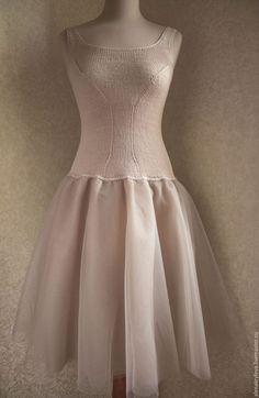 Платья ручной работы. Ажурное платье из мохера. Knit&Tat. Ярмарка Мастеров. Кид-мохер, шерсть