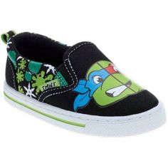Teenage Mutant Ninja Turtles Toddler Boys' Casual Canvas Shoe, Toddler Boy's, Size: 12, Black
