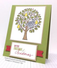 Partridge in a Pear Tree, 12 Days of Christmas, Stampin' Up!, Brian King