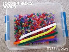 Toddler activity boxes!