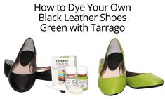 Tarrago Dye: How to Dye Your Leather Shoes - YouTube
