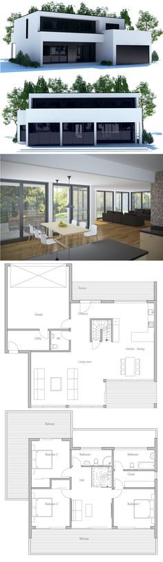 Modern Minimalist House Plan More