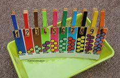 Kolíčky, barvy a čísla/počet Plastic Cutting Board