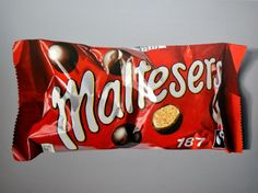 ARTFINDER: Maltesers by Peter Slade - only 187 calories! Love the different shades of red. quite a complex piece with all the creases in the packaging. also available as a limited edition p. Chocolate Drawing, Chocolate Art, Sweets Art, Sweet Wrappers, Different Shades Of Red, First Art, Realism Art, Everyday Objects, Hyperrealism