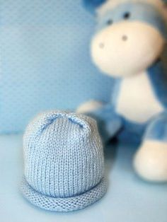 Sombrero básico de bebés prematuros | AllFreeKnitting.com