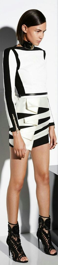 Balmain - you know it when you see it. This outfit is fashion forward, impeccably styled and editorial.