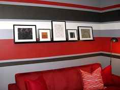 Red-white-and-black-Stripes-interior-