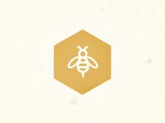 SHAPE: this hexagon is a perfect example of a basic shape and works very well when you want to create a logo for a company or product Bee Design, Icon Design, Logo Bee, Bee Icon, Honey Logo, Honey Packaging, Bee Friendly, Bee Tattoo, Wood Burning Patterns