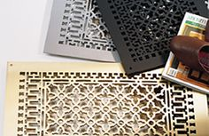 When we need to replace grills in living room; Brass, Iron, Aluminum & Steel Scroll Metal Grilles