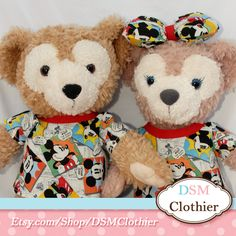 """Comic Charm Mickey Mouse Top for Disney's 17"""" Duffy and Shellie May Plush Bears"""