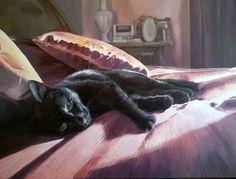"""Listening"" Acrylic on canvas Canvas, Artist, Animals, Tela, Animales, Animaux, Artists, Canvases, Animal"