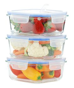 Another great find on #zulily! 27-Oz. Glass Food Container - Set of Three #zulilyfinds