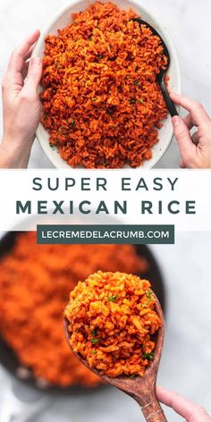 Easy Mexican Rice is that perfect side dish you ll want to make again and again Buttery rice meets south-of-the-border spices meets tomatoey goodness all in one dish for easy clean up easy mexicanrice sidedish delicious familyfavorite dinnerrecipes Mexican Rice Recipes, Rice Recipes For Dinner, Mexican Cooking, Mexican Dishes, Side Dish Recipes, Easy Mexican Rice, Real Cooking, Buttery Rice, Cooking Recipes