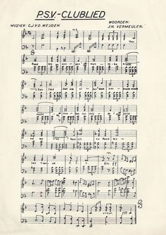De partituur van het clublied van PSV. In de jaren zestig door het Tivolikoor, begeleid door de Philips Harmonie opgenomen in de ELA-studio, met als doel dit in het sportpark, later stadion ten gehore te brengen. Later zijn er uiteraard nieuwe opnamen gemaakt door ander gezelschappen. Het lied werd getoonzet door de befaamde Cees van der Weijden.