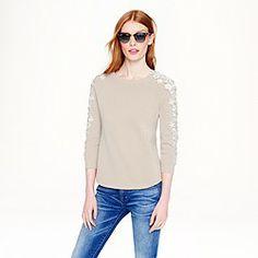 Flower-sleeve sweater- my spring favorite!